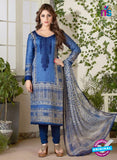Rakhi 5479 Blue Glace Cotton Patiala Suit