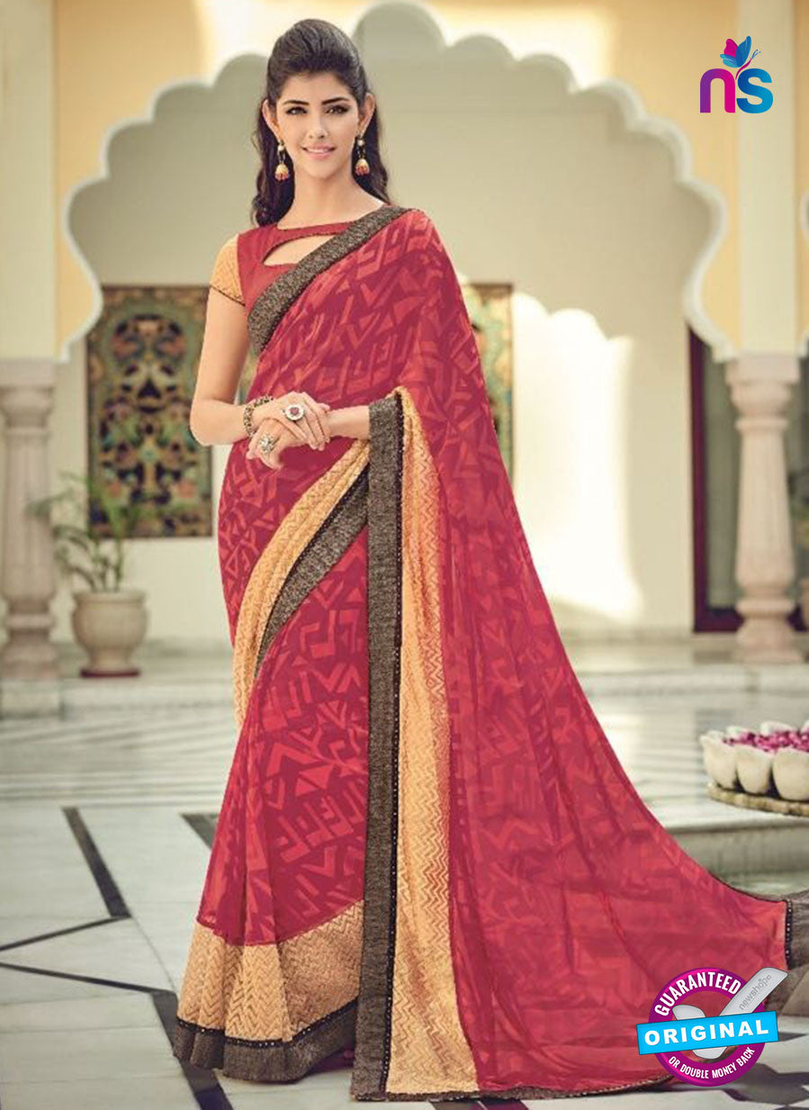 AZ 2073 Pink Color Net Chiffon Georgette Fancy Formal Saree