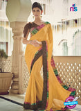 AZ 2075 Yellow Net Chiffon Georgette Fancy Formal Saree