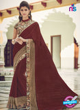 AZ 2079 Brown Net Chiffon Georgette Fancy Formal Saree