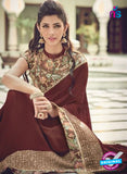 AZ 2079 Brown Net Chiffon Georgette Fancy Formal Saree - Sarees - NEW SHOP