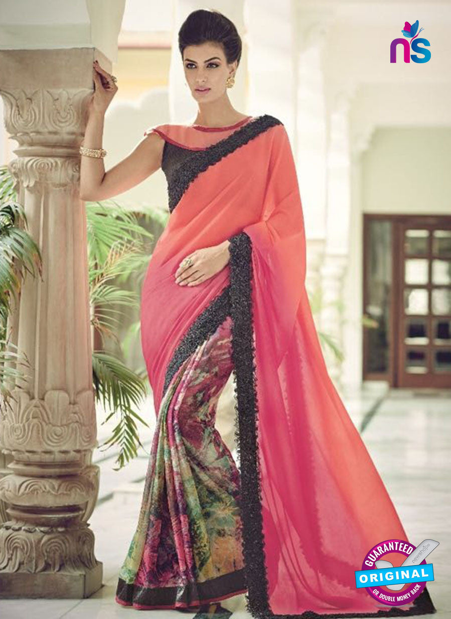 AZ 2080 Multicolor Net Chiffon Georgette Fancy Formal Saree