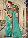 AZ 2087 Sea Green Net Chiffon Georgette Fancy Formal Saree
