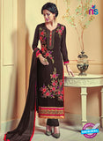 AZ 3740 Brown Georgette Party Wear Suit