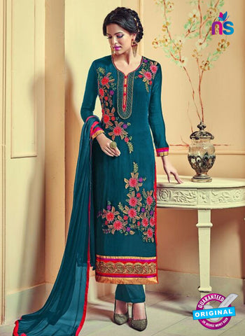 AZ 3741 Sea Green Georgette Party Wear Suit