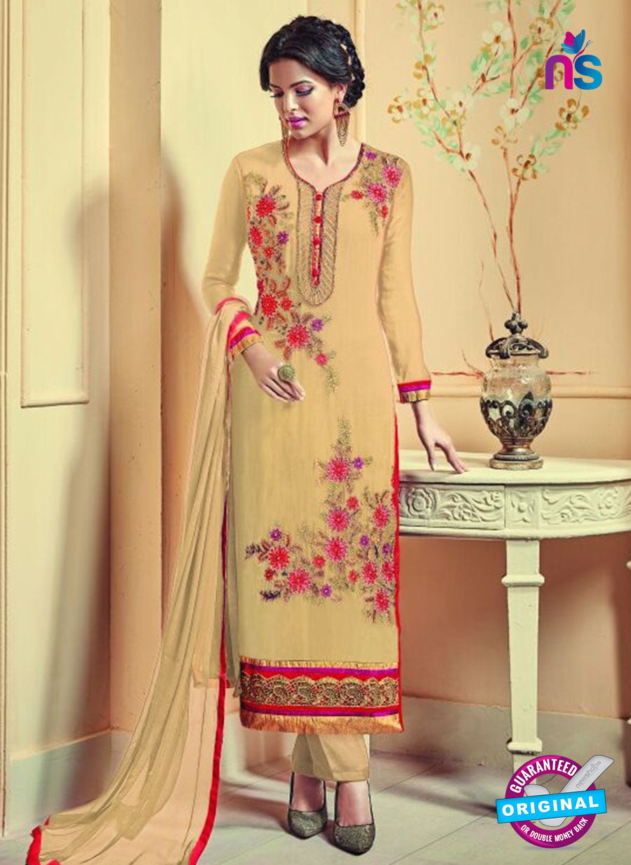 AZ 3742 Beige Georgette Party Wear Suit