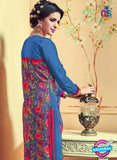 AZ 3739 Blue Georgette Party Wear Suit