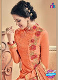 Kesari 5613 Orange Embroidered Georgette Party Wear Fancy Straight Suit
