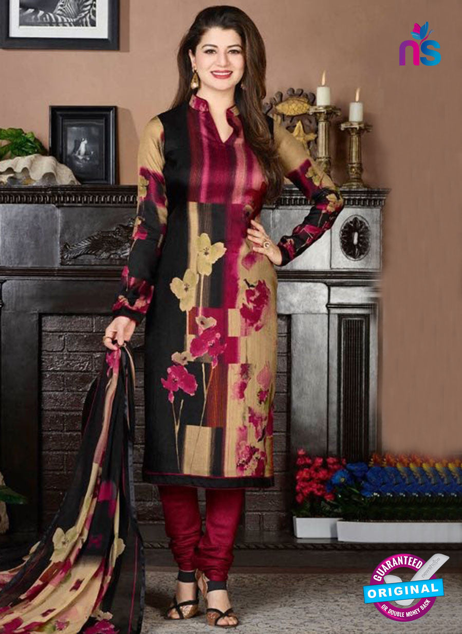 Rakhi 5731 A Multicolor Tussar Silk Pashmina Winter Suit
