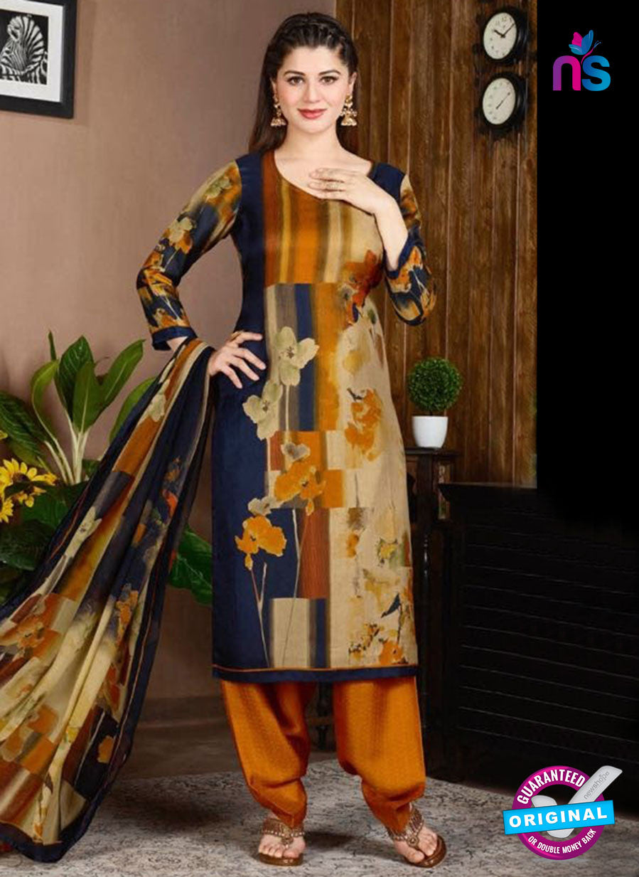 Rakhi 5731 B Multicolor Tussar Silk Pashmina Winter Suit