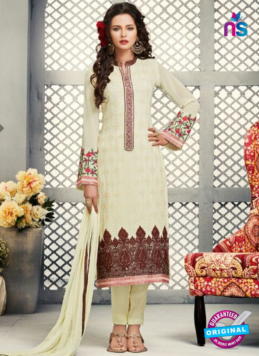 AZ 2268 Beige Embroidery Faux Georgette Party Wear Suit