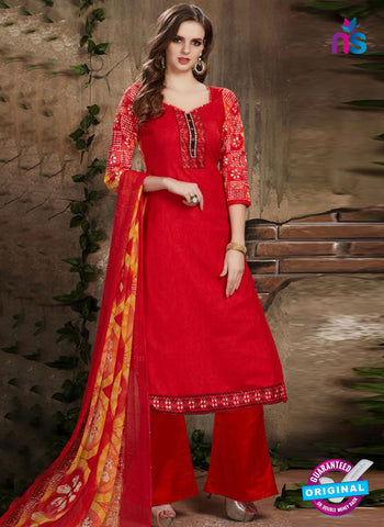 SC 42230 Red Designer Plazo Suit