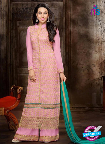 NS10326  Pink and Beige Georgette Straight Suit
