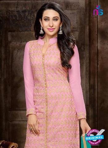NS10326 Pink and Beige Georgette Straight Suit Online