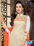 NS10328 Beige and Orange Georgette Straight Suit Online