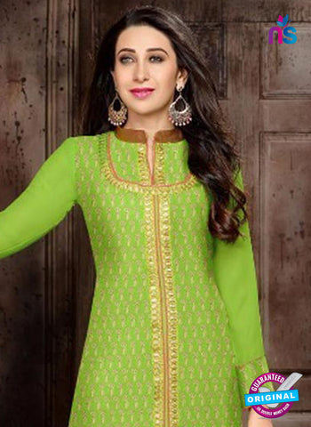 S10329 Green Georgette Straight Suit Online