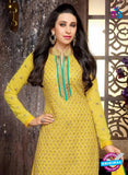 NS10330 Yellow and Green Georgette Straight Suit Online