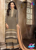 NS10331 Grey Georgette Straight Suit
