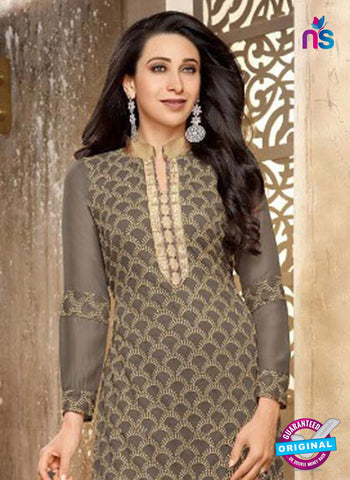 NS10331 Beige Georgette Straight Suit Online