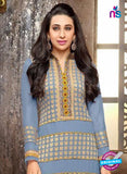 NS10332 Blue and Yellow Georgette Straight Suit Online