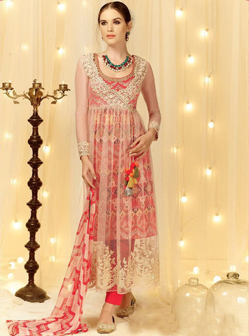 Heer 5806 Pink Color Cotton Satin Designer Suit