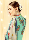 Heer 5808 Blue Color Cotton Satin Designer Suit