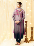 Heer 5809 Purple Color Cotton Satin Designer Suit