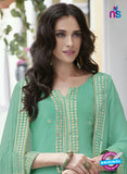 Haya 5892 Sea Green Color Cotton Satin Designer Straight Suit