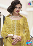 Haya 5893 Yellow Color Cotton Satin Designer Straight Suit