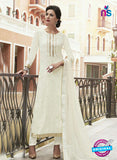 Haya 5894 White Color Cotton Satin Designer Straight Suit