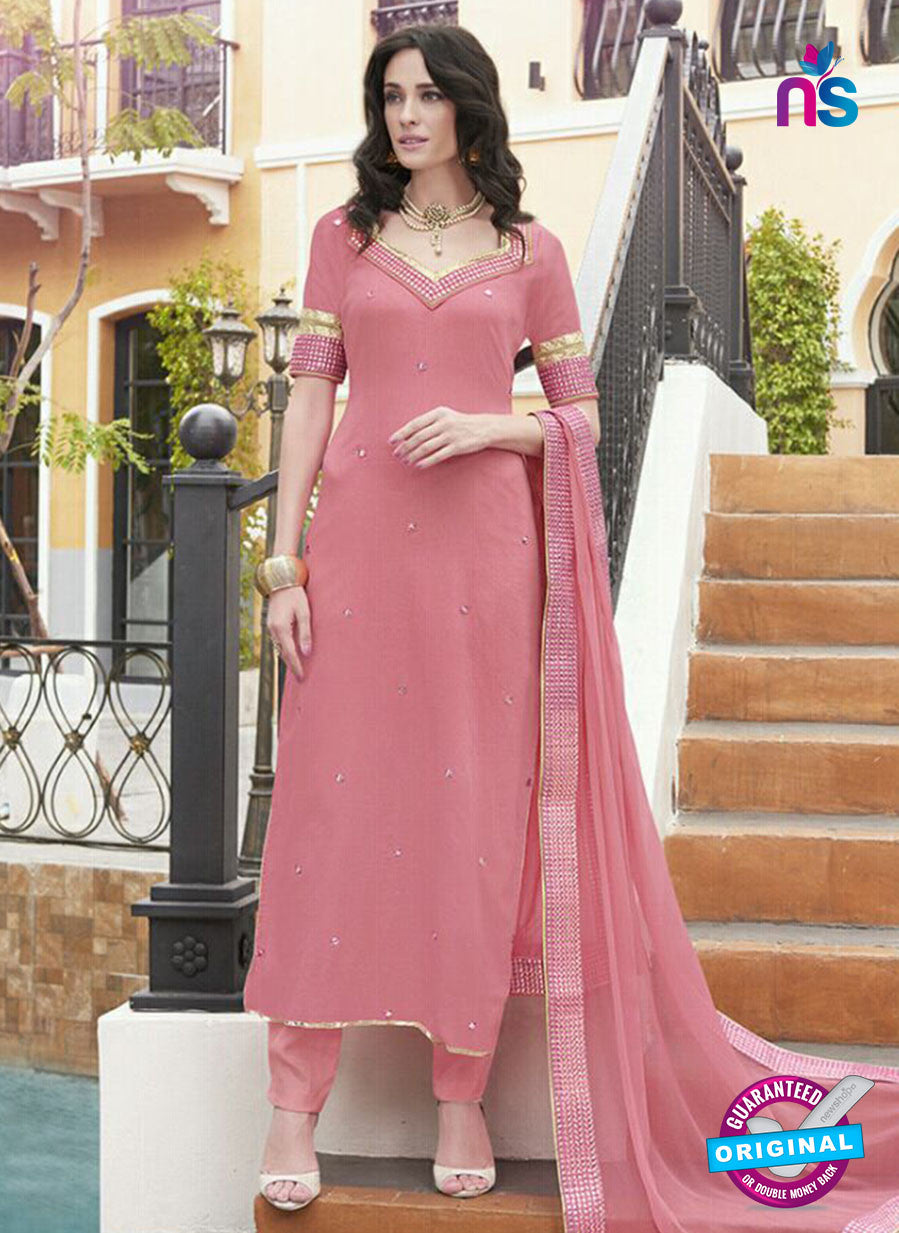 Haya 5896 Pink Color Cotton Satin Designer Straight Suit