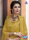 Haya 5897 Yellow Color Cotton Satin Designer Straight Suit