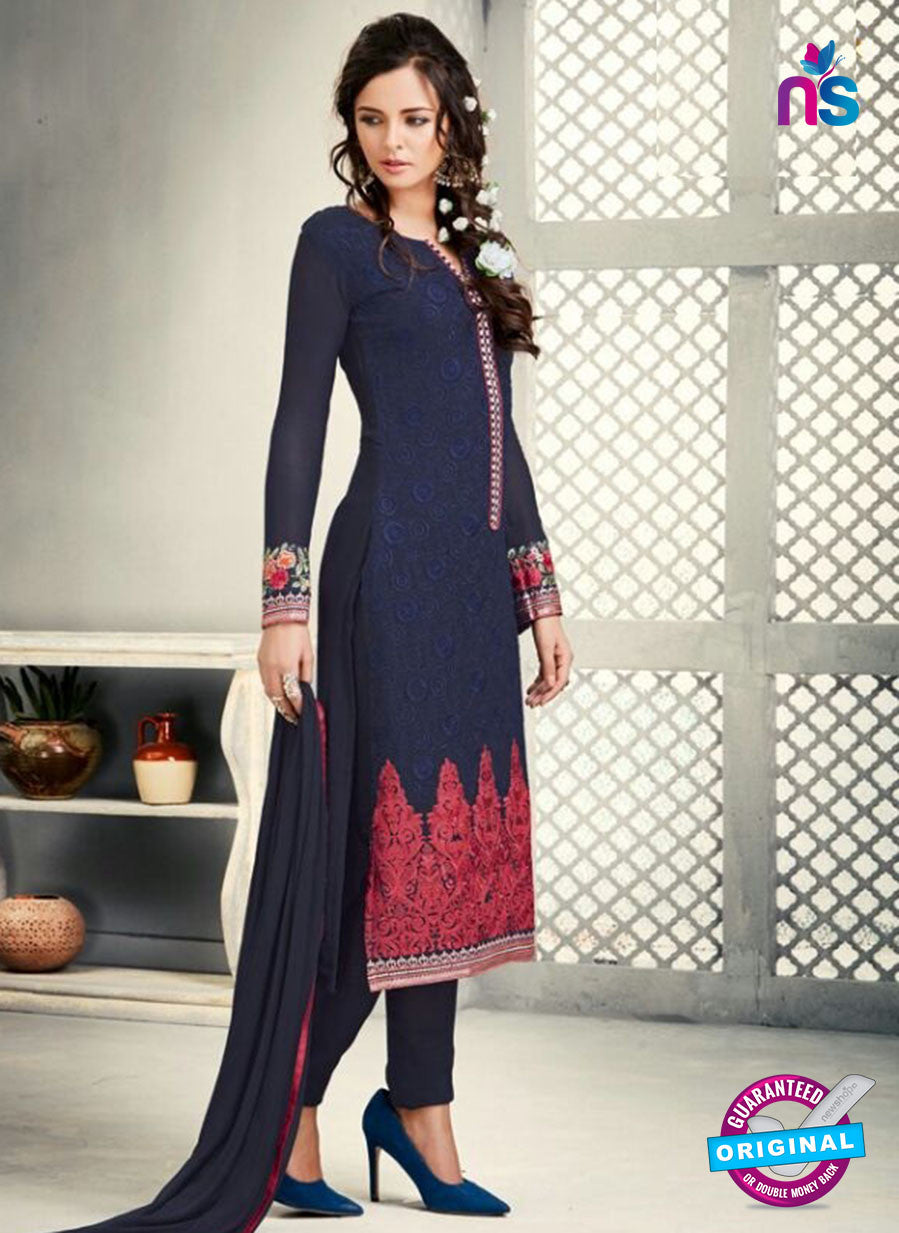 AZ 2269 Blue Embroidery Faux Georgette Party Wear Suit