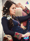 AZ 2269 Blue Embroidery Faux Georgette Party Wear Suit - Salwar Suits - NEW SHOP