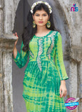 SC 12390 Green and Light Green Pure Georgette Party Wear Tunic Online