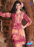 SC 12386 Pink and Orange Pure Georgette Party Wear Kurti Online