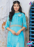 SC 12387 SkyBlue Pure Georgette Party Wear Tunic Online