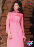 SC 12388 Pink Pure Georgette Party Wear Kurti Online