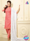NS10985  Light Pink and White Designer Chanderi Chudidar Suit