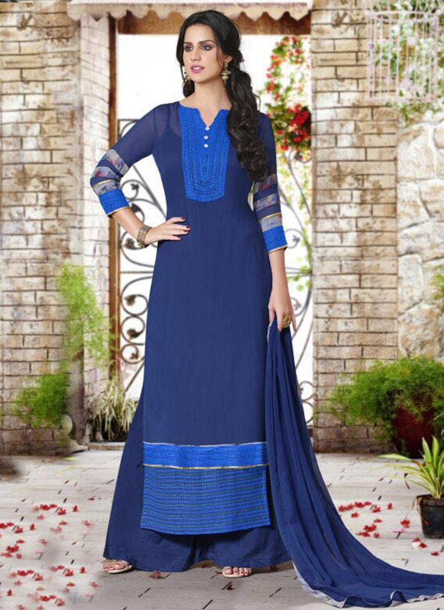 Haya 5902 Blue Color Georgette Designer Suit