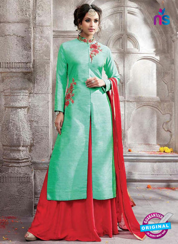 Kesari 5907 Sea Green Indo Western Suit