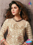 NS10945 Ivory and Red Georgette Party Wear Designer Suit Online