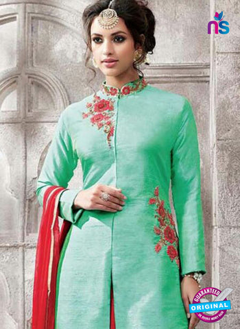 AZ 5362 Sea Green Indo Western Suit