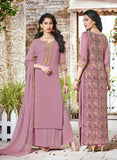 Haya 5909 Purple Color Georgette Designer Suit