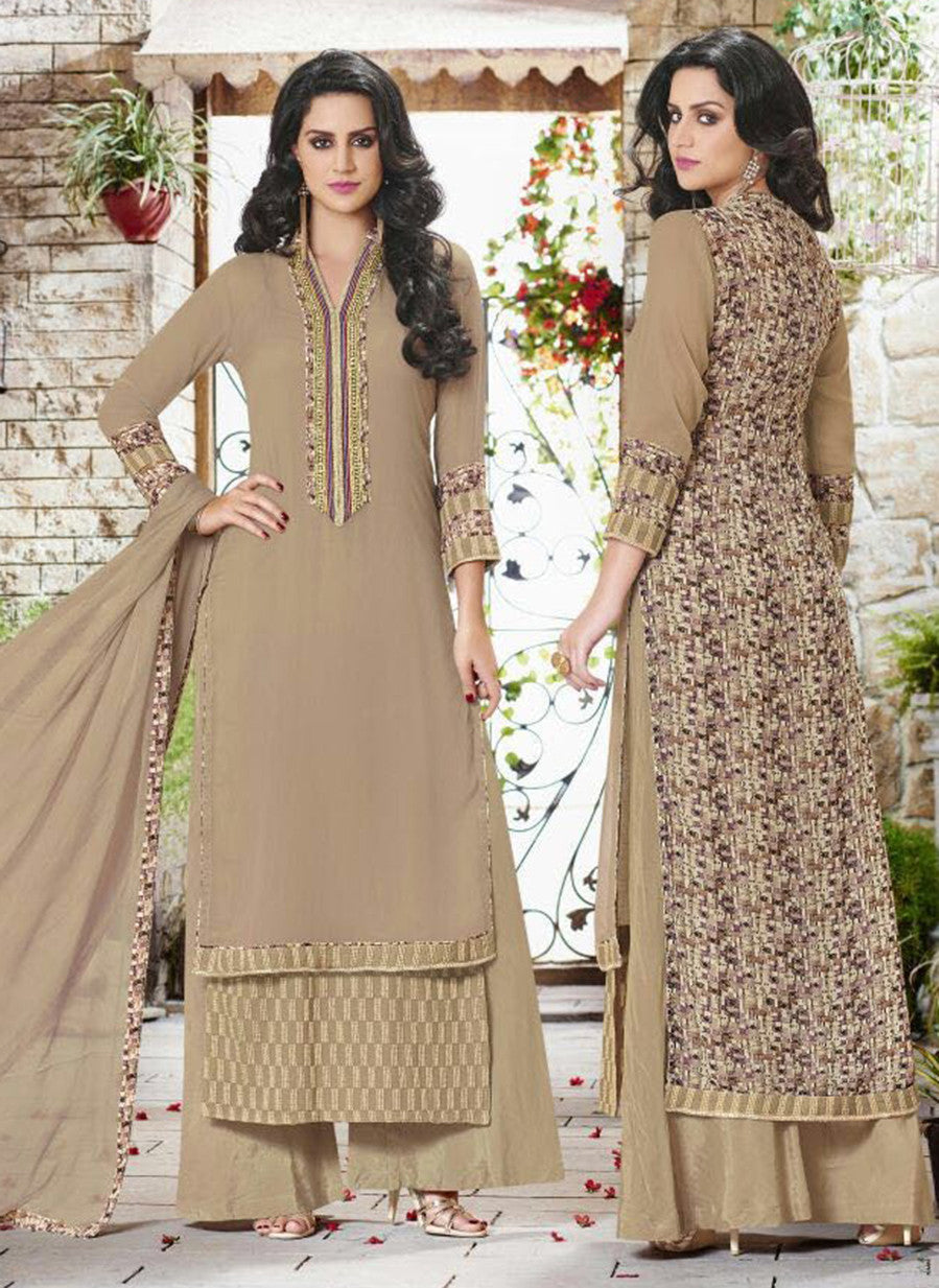 Haya 5910 Brown Color Georgette Designer Suit