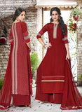 Haya 5911 Maroon Color Georgette Designer Suit
