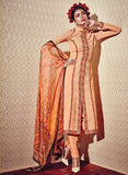 Heer 5911 Orange Color Georgette Designer Suit