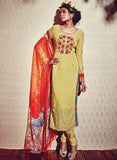 Heer 5912 Yellow Color Georgette Designer Suit