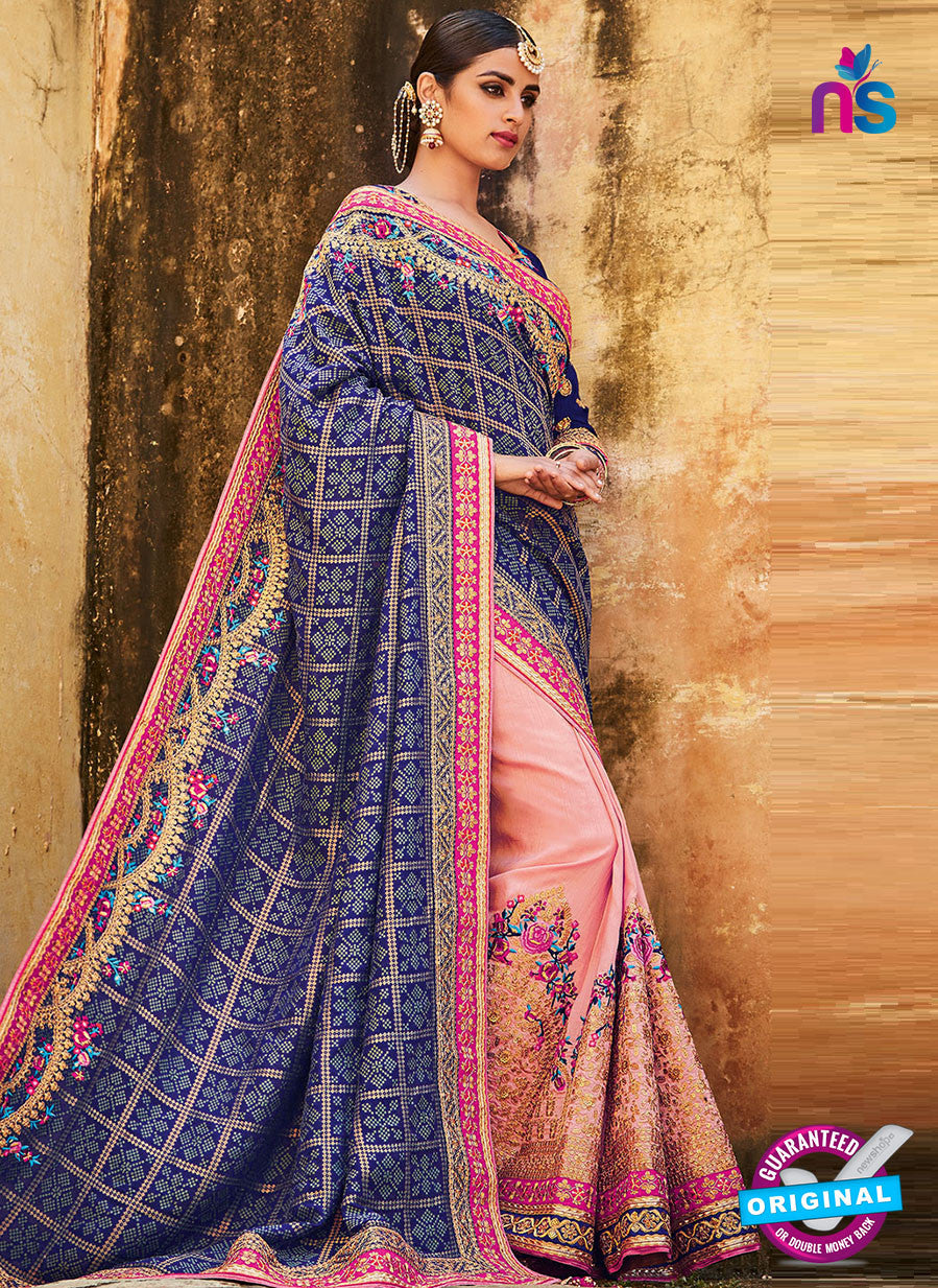 Kimora SA59 Pink Wedding Saree