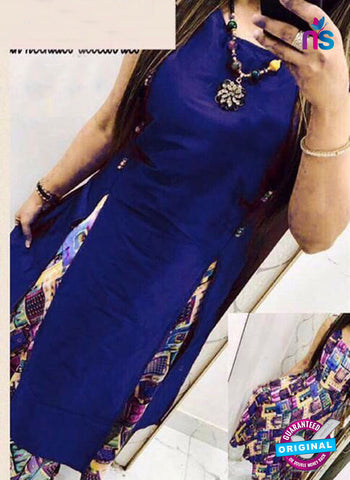 VD 715 Blue Indo Western Tunic